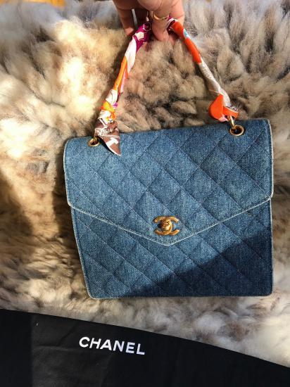 Αυθεντική τσάντα Chanel denim bag vintage - Αθήνα Ρούχα - Παπούτσια ... f446add963b